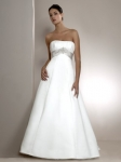 a-line white wedding gown