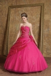 red color ball gown
